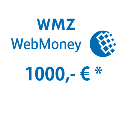 Refill electronic wallet (WMZ) WebMoney with 1000,- € in USD
