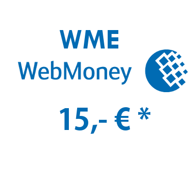 Refill electronic wallet (WME) WebMoney with 15,- €