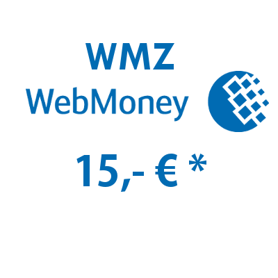 Refill electronic wallet (WMZ) WebMoney with 15,- € in USD