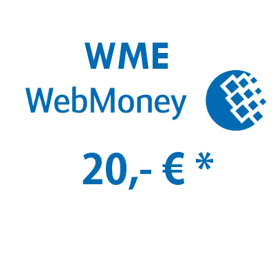 Refill electronic wallet (WME) WebMoney with 20,- €