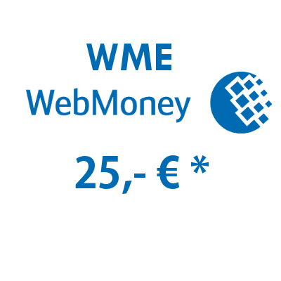 Refill electronic wallet (WME) WebMoney with 25,- €