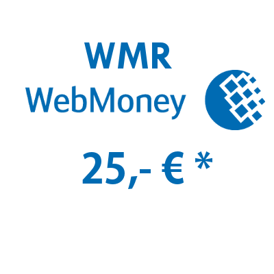 Refill electronic wallet (WMR) WebMoney with 25,- € in Rubles