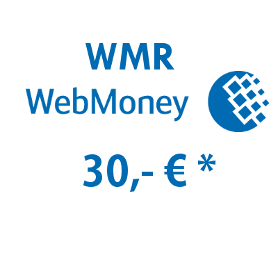 Refill electronic wallet (WMR) WebMoney with 30,- € in Rubles