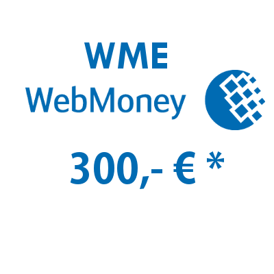 Refill electronic wallet (WME) WebMoney with 300,- €