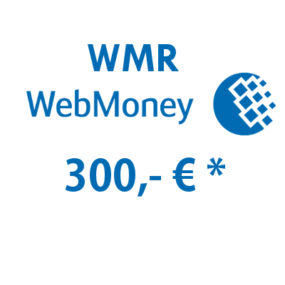 Refill electronic wallet (WMR) WebMoney with 300,- € in Rubles
