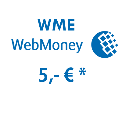 Refill electronic wallet (WME) WebMoney with 5,- €