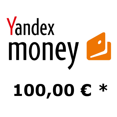 Refill electronic wallet Yandex-Money with 100,- €