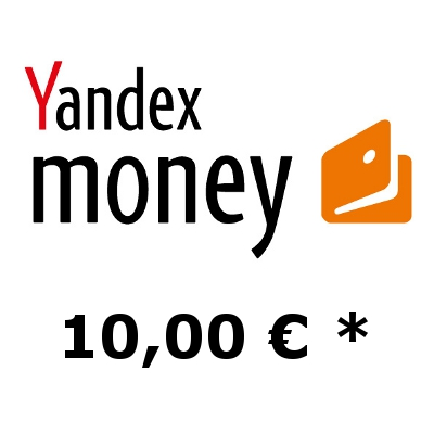 Refill electronic wallet Yandex-Money with 10,- €