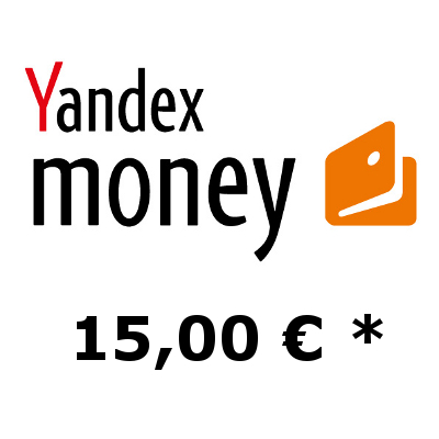 Refill electronic wallet Yandex-Money with 15,- €