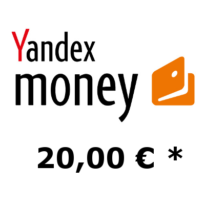 Refill electronic wallet Yandex-Money with 20,- €