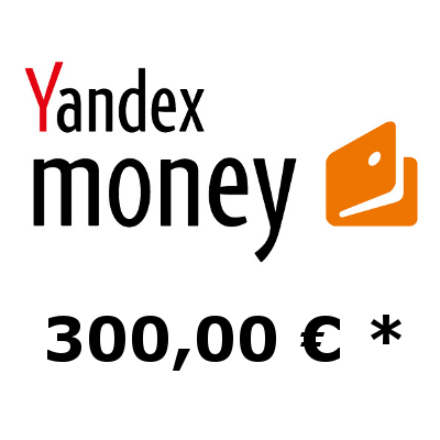 Refill electronic wallet Yandex-Money with 300,- €