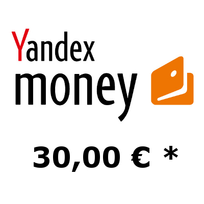 Refill electronic wallet Yandex-Money with 30,- €