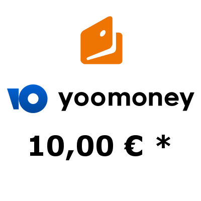 Top up electronic wallet «YooMoney» with 10,- €